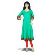 Women's Flared Sleeve Rayon  Kurti