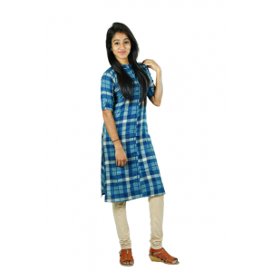 Hurryguru Women Maniac Checkered  Rayon Kurti