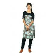 Hurryguru Women Grey Dot Rayon Kurti