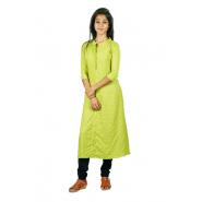 Hurryguru Women Pale Green  Rayon Kurti