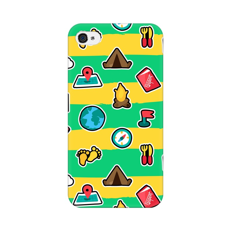 Map Travel  Moto C Plus Back Covers Case