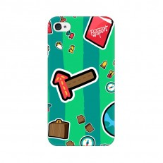 iPhone 4 Back Cover Case, Pasto Travel Design iPho...