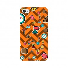 iPhone 4 Back Cover Case, Wave Travel Design iPhon...